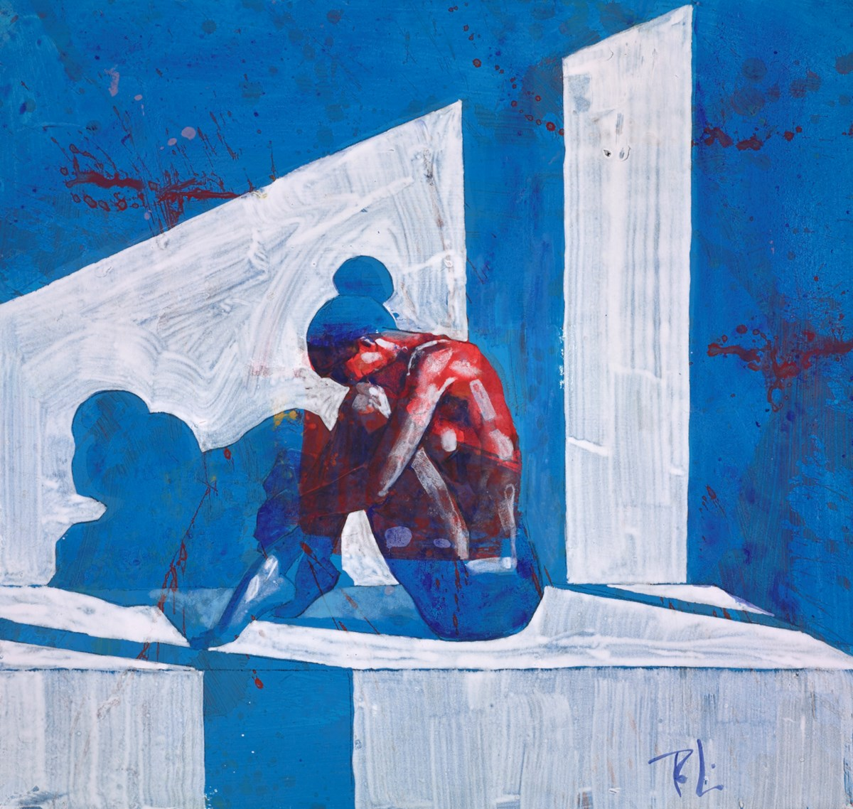 Lost in Thought by toby mulligan -  sized 22x21 inches. Available from Whitewall Galleries